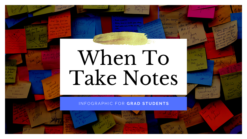 When to take notes during a lecture