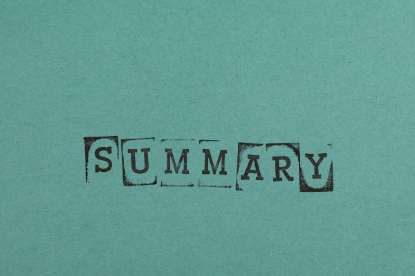 How to write a summary chapter